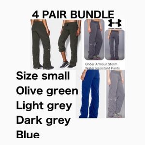 4 pairs identical Under Armour pants sz small